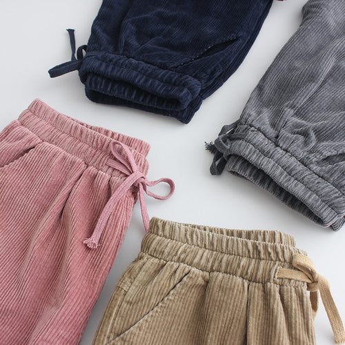 All-Day Drawstring Corduroy Harem Pants