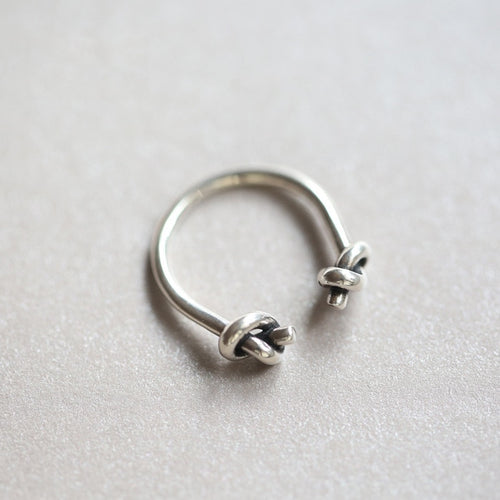 Tie-A-Knot Sterling Sterling Silver Adjustable Ring