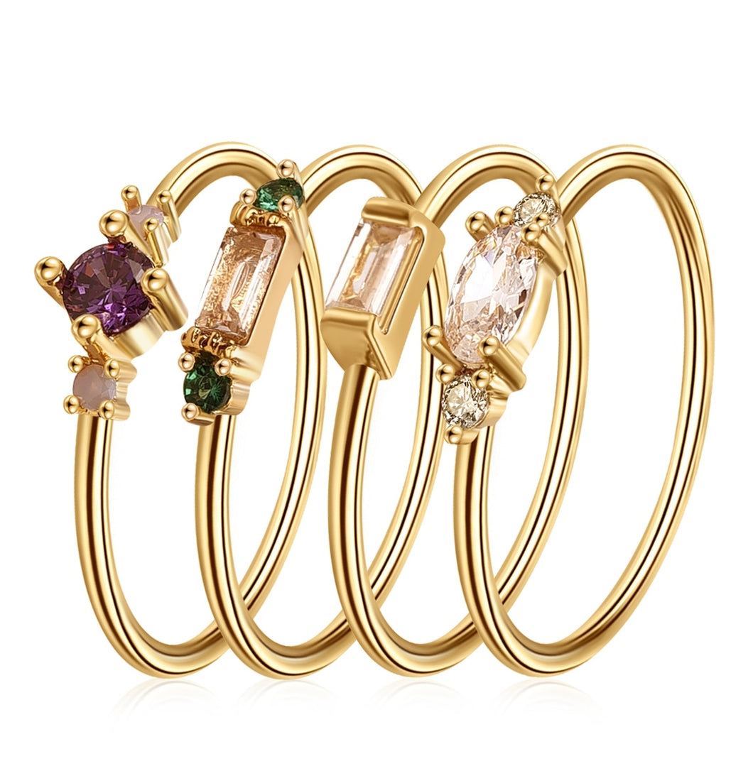 Mesmerizing and Earthy Boho Stacking Rings