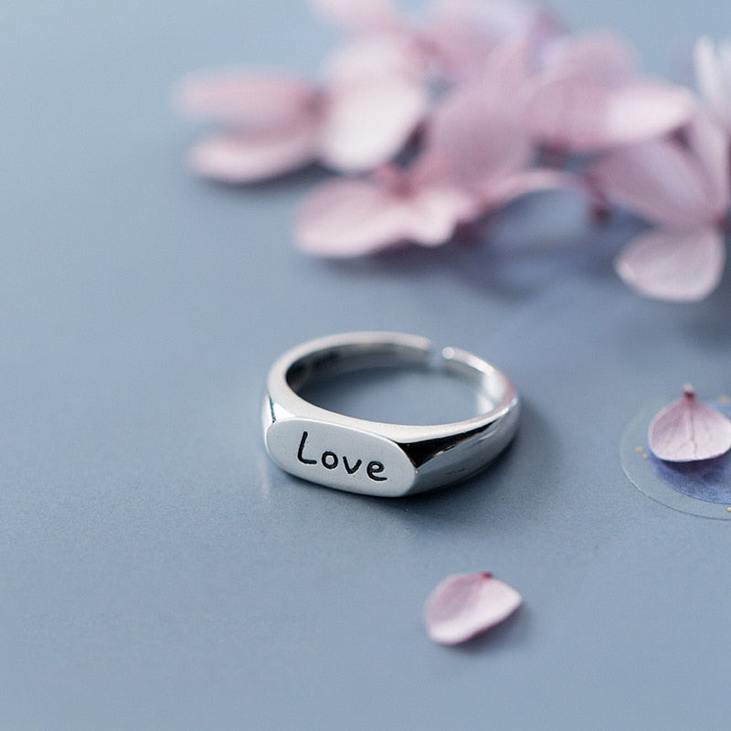 All Love Sterling Silver Punk Ring