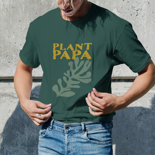 Plant Papa Retro Men's Crew Neck Tee