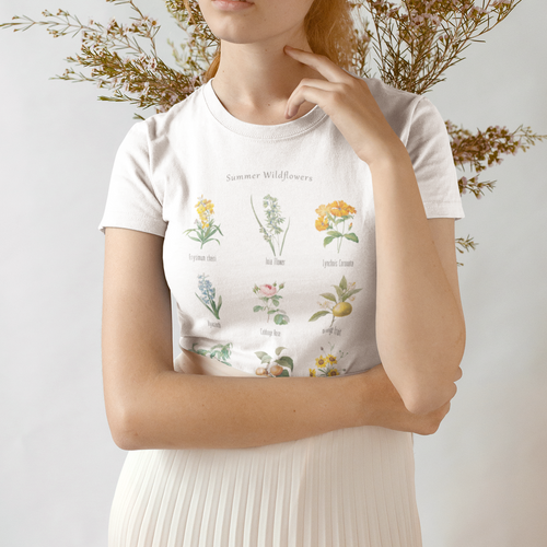 Summer Wildflowers Unisex Crew Neck Tee