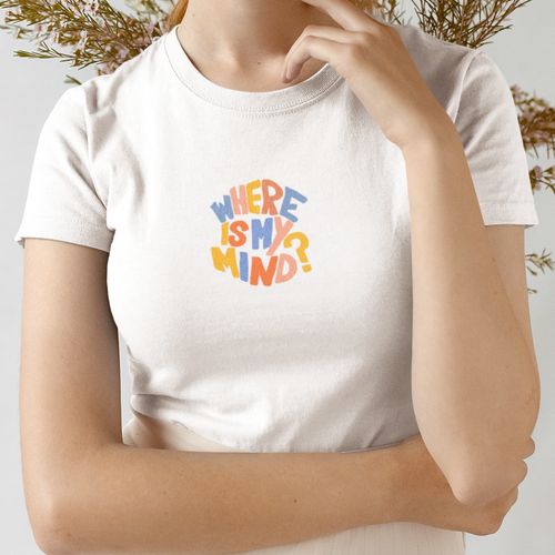 Where Is My Mind Retro Crew Neck Tee