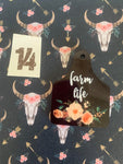 Cattle Tag Keyrings