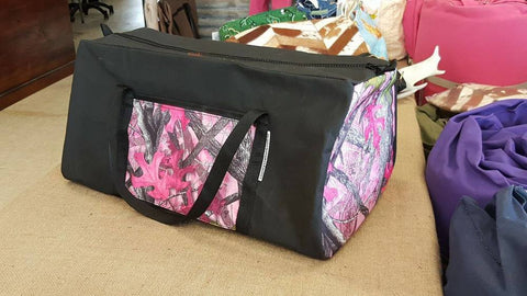 Canvas Weekender Bag with Camo Ends