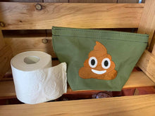 Embroidered Canvas Toilet Roll Bag.