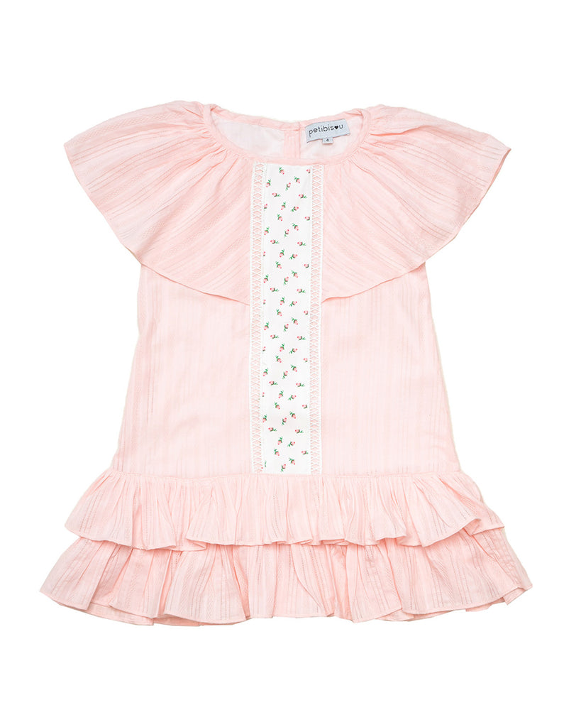 Angel Coral Ruffle Dress by top Childrens French Fashion Boutique, PetiBisou