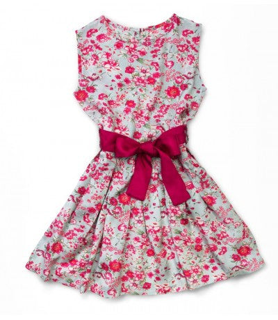 Angelina Raspberry Floral Dress by top Childrens French Fashion Boutique, PetiBisou