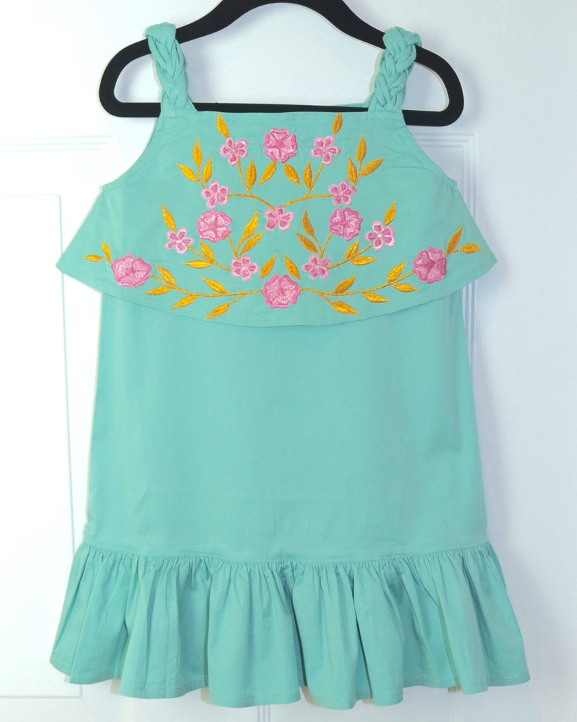 Jade Braided Strap Dress by top Childrens French Fashion Boutique, PetiBisou