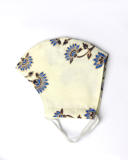 Blue Floral Face Mask by top Childrens French Fashion Boutique, PetiBisou