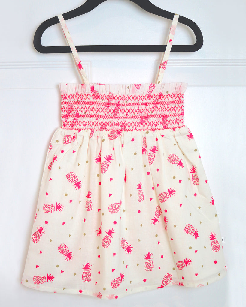 Joy Pineapple Sundress by top Childrens French Fashion Boutique, PetiBisou
