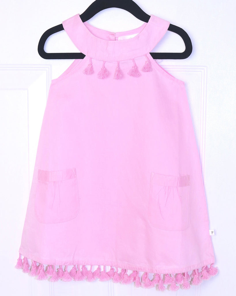 Aurora A Line Dress with Tassels by top Childrens French Fashion Boutique, PetiBisou