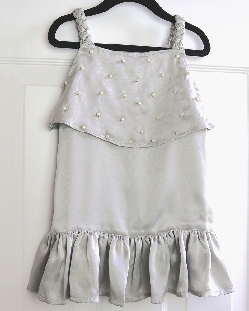 Perla Cupro Dress by top Childrens French Fashion Boutique, PetiBisou