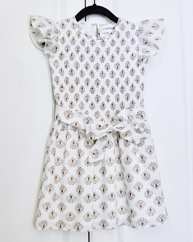 Paola A Line Dress by Top Childrens French fashion boutique, PetiBisou