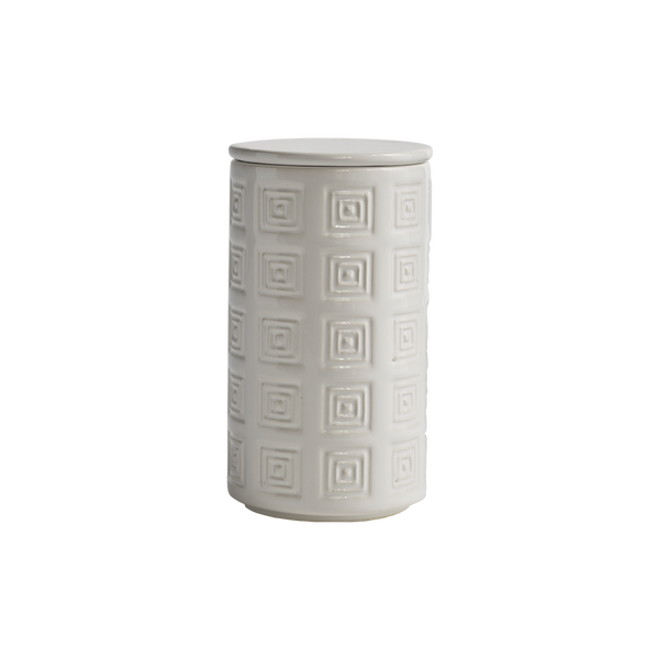Hellenica Ceramic Jar White