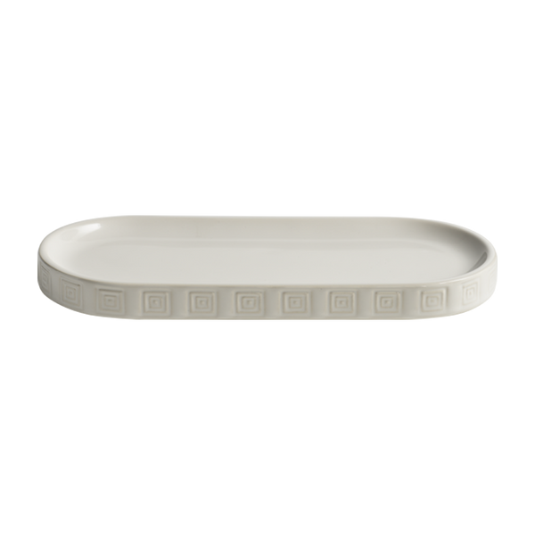 Hellenica Ceramic Tray White