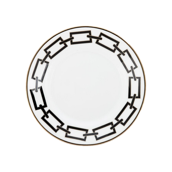 Gio Ponti Chains Flat Bread Plate Black