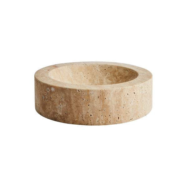 Rose Bowl Travertine Medium