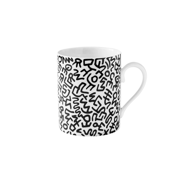 Keith Haring Limoges Porcelain Mug Black