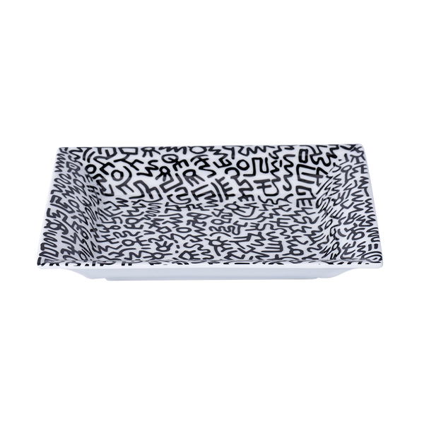 Keith Haring Limoges Porcelain Tray Black