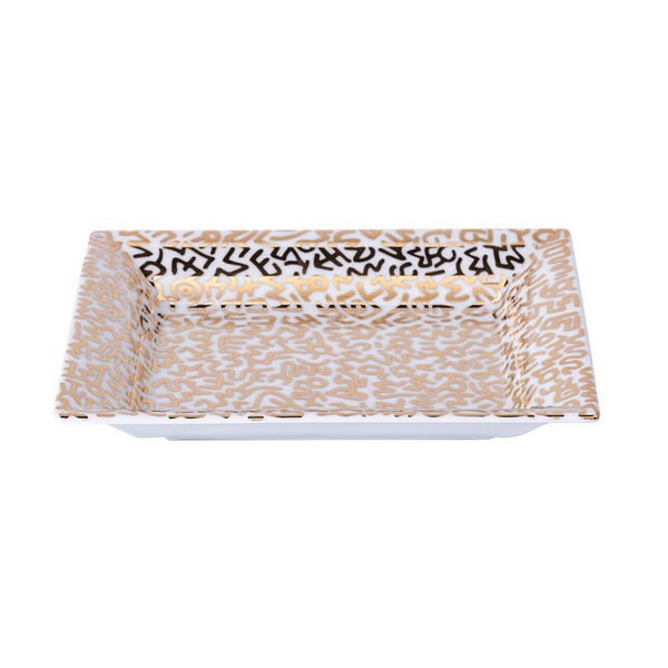 Keith Haring Limoges Porcelain Tray Gold
