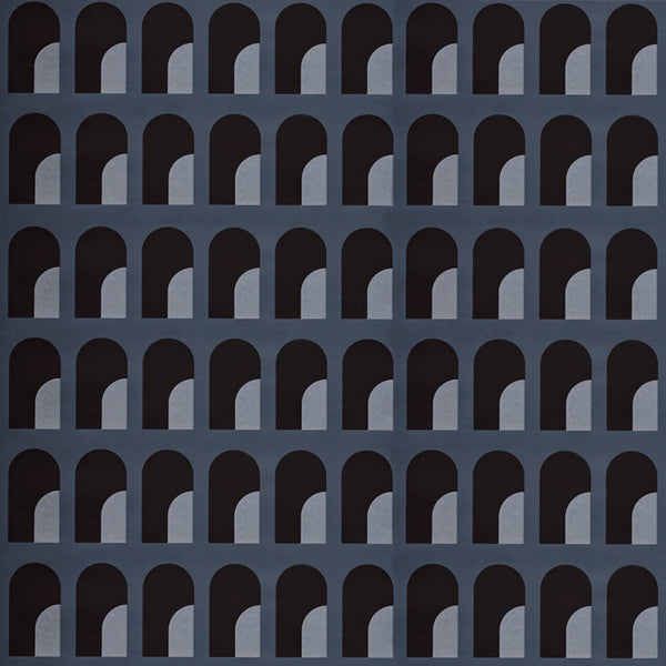 Palazzo Wallpaper Atlantic Pearl & Matte Black