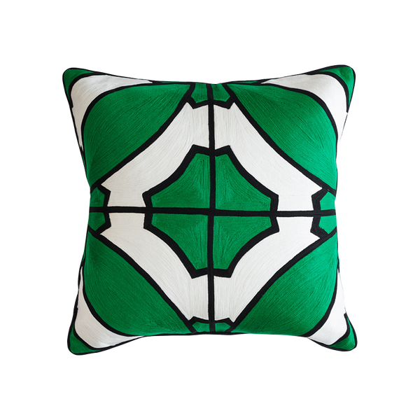 South Beach Cushion Green & Black