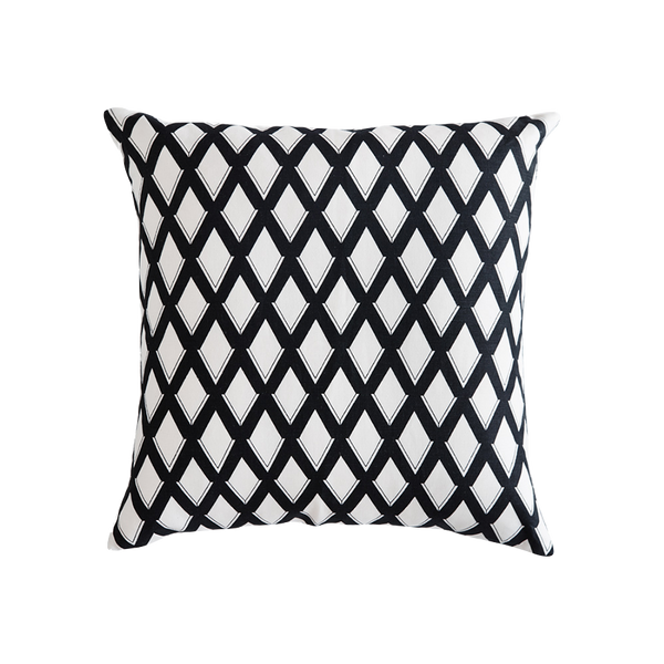 Trellis Cushion Black & White