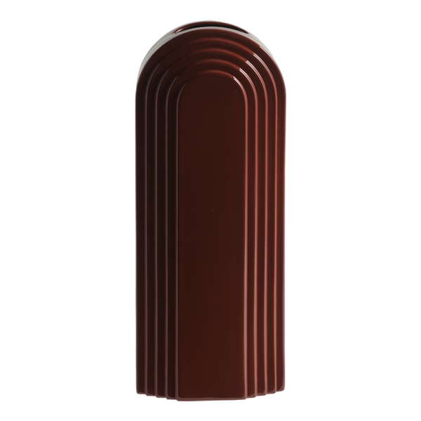 Avalon Ceramic Vase Maroon