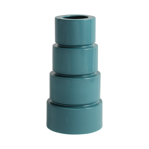 Devo Ceramic Vase Teal