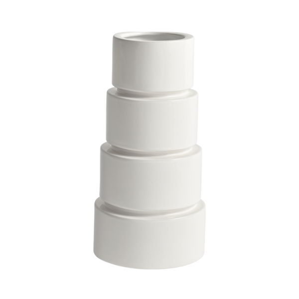 Devo Ceramic Vase White