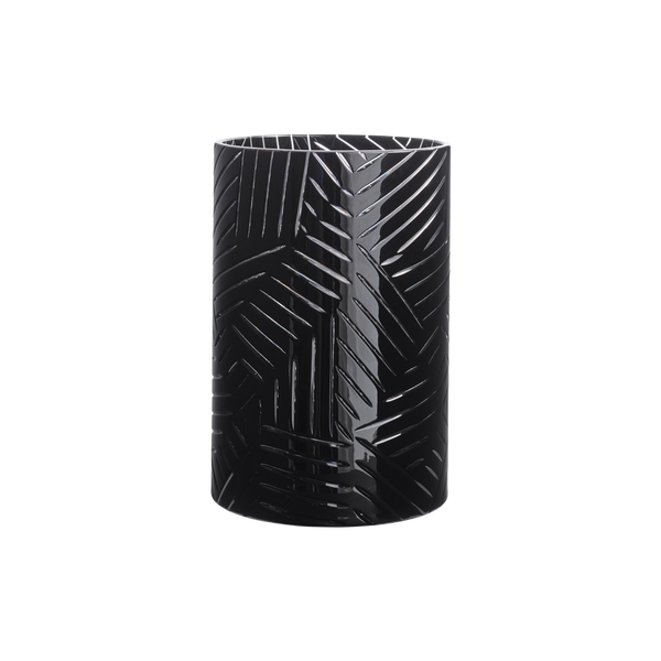 Flash Vase Crystal Black