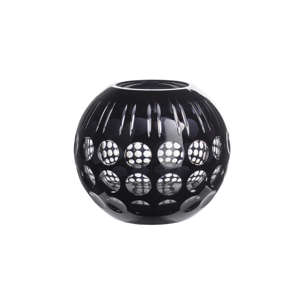 Karma Vase Crystal Black