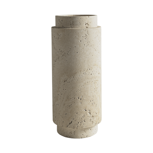 Pillar Vase Travertine Large
