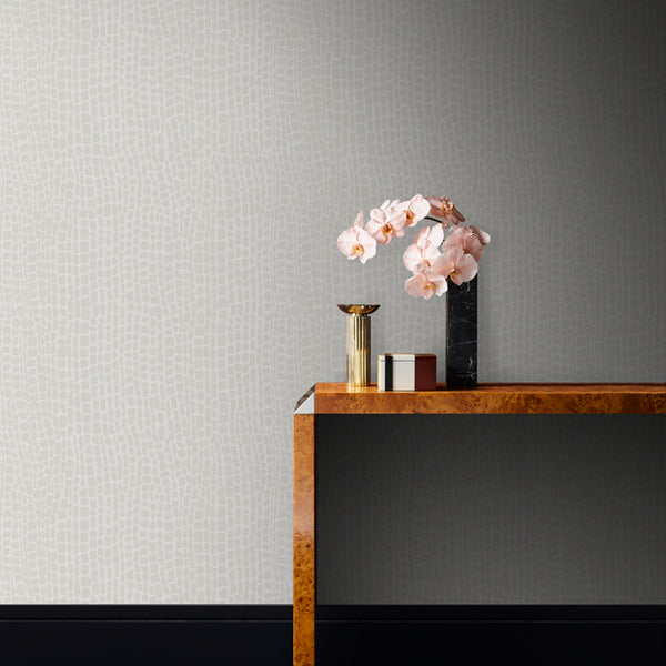 Appia Wallpaper White Pearl
