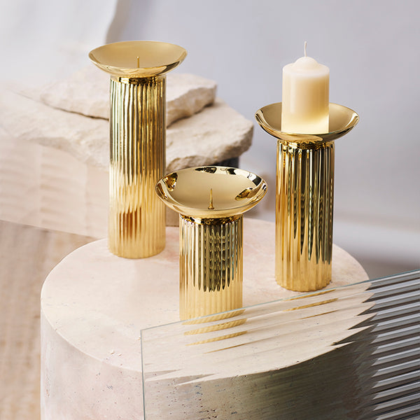 Aristotle Brass Candle Holder Medium