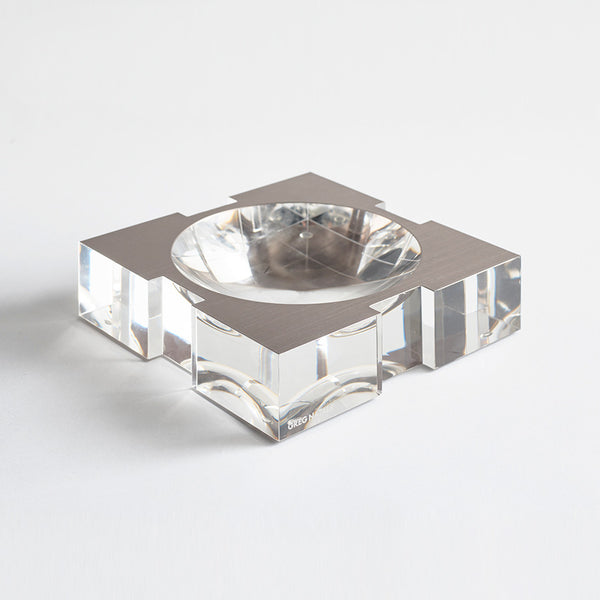 Carter Acrylic Bowl Brushed Platinum