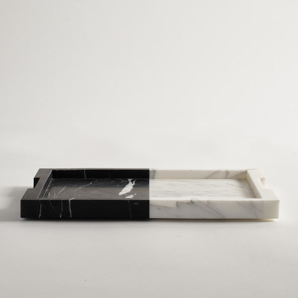 Carter Tray Nero & Bianco Small