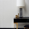 Hellenica Wallpaper Matte Black on Milk