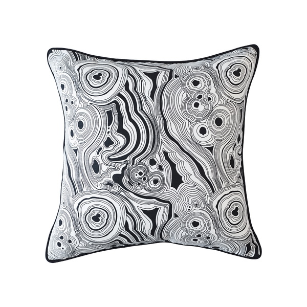 Malachite Cushion Black & White