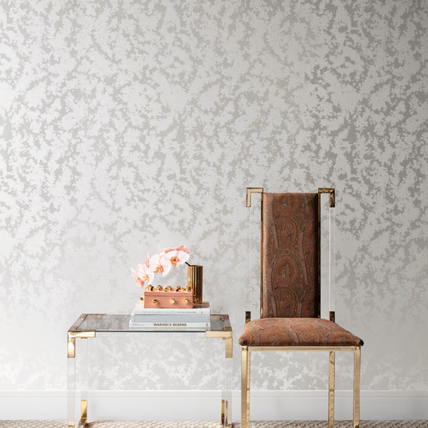 Stucco Wallpaper White Pearl
