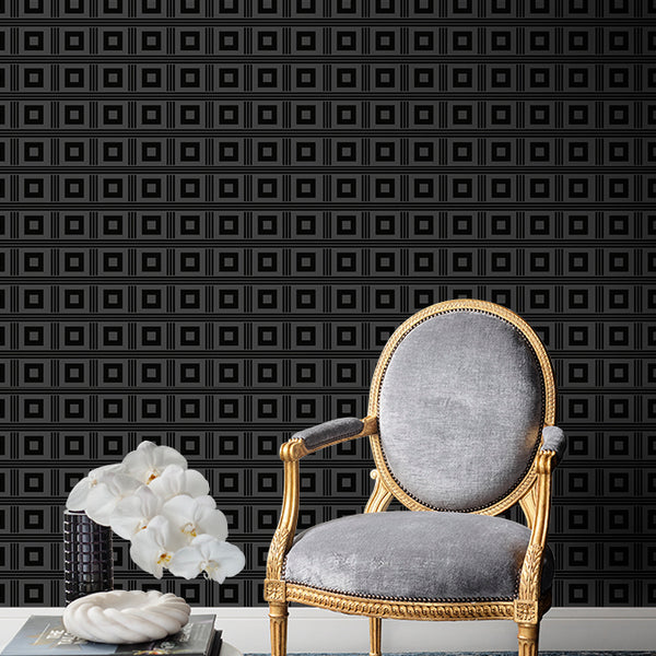 Astoria Wallpaper Black Pearl