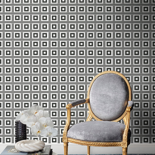 Astoria Wallpaper Matte Black