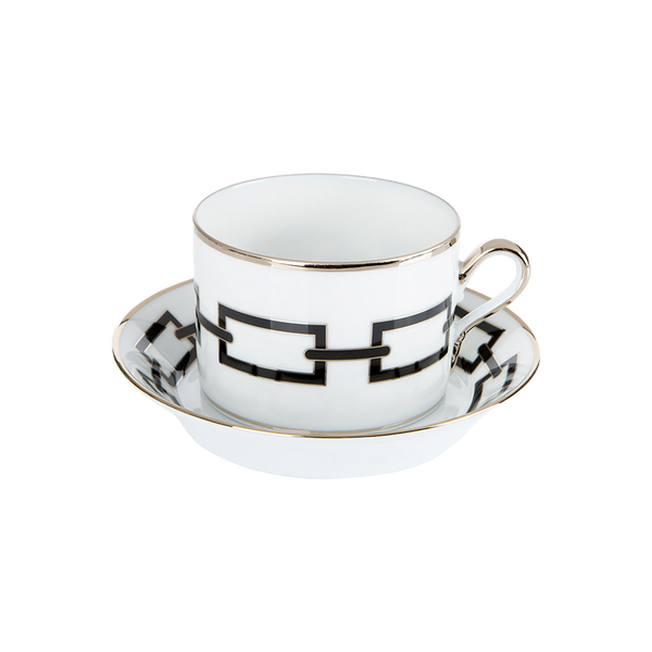 Gio Ponti Chains Tea Saucer Black