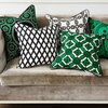 Manhattan Cushion Green & Black