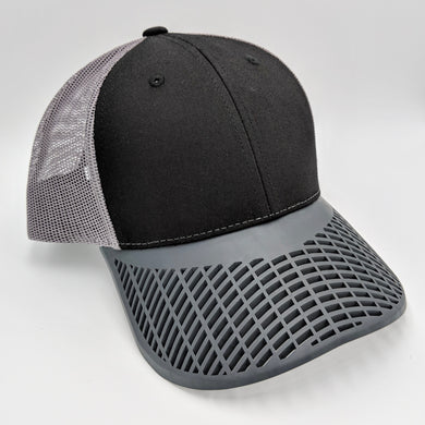 Black and Charcoal Trucker Hat