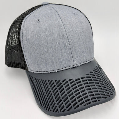 Charcoal Grey and Black Mesh Trucker Hat
