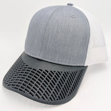 Boat Brim Grey and Black Trucker Hat