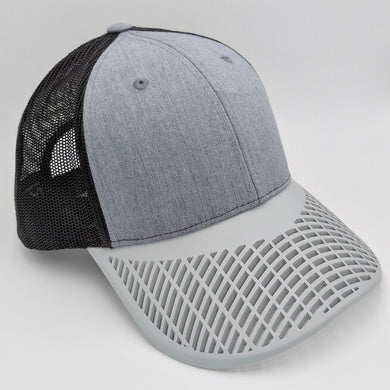 Boat Brim Grey and Grey Trucker Hat