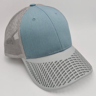 Boat Brim Teal and Grey Trucker Hat